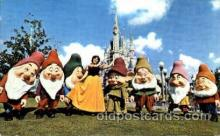 dis100040 - Snow white and Seven dwarts Disney Postcard Post Card