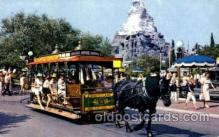 dis100042 - Horse drawn  streetcar Disney Postcard Post Card