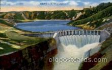 dms001001 - Polson, south of Flathead Lake Dam, Dams Postcard Post Card