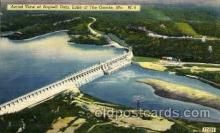 dms001003 - Bagnell Dam, Lake of the Ozaeks, MO.,Missouri, USA Dam, Dams Postcard Post Card