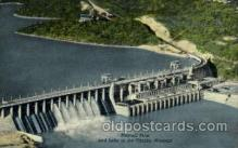dms001005 - Bagnell Dam, Lake of the Ozaeks, MO.,Missouri, USA Dam, Dams Postcard Post Card
