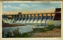 dms001012 - Lake Vermilion, Danville, Illinois, USA Dam, Dams Postcard Post Card