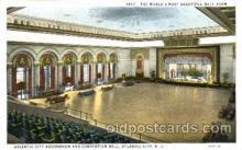 dnc001001 - Atlantic City Auditorium, New Jersey, USA Ballroom Dancing Postcard Post Card