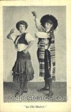 dnc100006 - Old Madrid Dance, Dancing Postcard Post Card