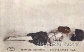 dnc100015 - Gertrude Hoffmann, Salome Dance Dance, Dancing Postcard Post Card