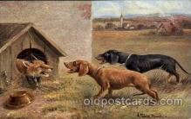 dog100030 - Artist Muller, Dachshund, Dog, Dogs, Postcard Post Card