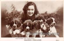 dog100682 - Maureen O'Sullivan Film Stars & Their Pets Postcard Post Card