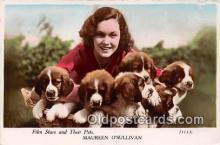 dog100683 - Maureen O'Sullivan Film Stars & Their Pets Postcard Post Card