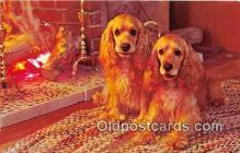 dog200041 - By The Fire Color by FPG Postcard Post Card