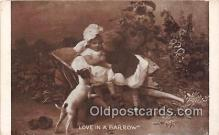 dog200110 - Love in a Barrow  Postcard Post Card