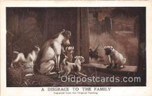 dog200115 - Disgrace to the Family Engraved from the Original Painting Postcard Post Card