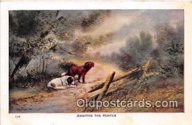 dog200207 - Awaiting The Hunter  Postcard Post Card