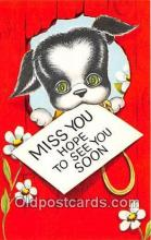 dog200420 - Miss You USA Postcard Post Card