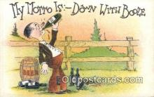 drk001052 - Down with Booze  Postcard Post Cards Old Vintage Antique