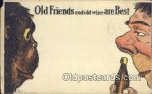 drk001064 - Old Friend  Postcard Post Cards Old Vintage Antique
