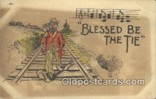 drk001067 - Blessed Be the Tie  Postcard Post Cards Old Vintage Antique