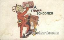 drk001071 - Tramp Schooner  Postcard Post Cards Old Vintage Antique