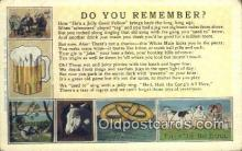drk001076 - You Remember  Postcard Post Cards Old Vintage Antique