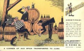 drk001080 - El Baturro Havana, Cuba Postcard Post Cards Old Vintage Antique