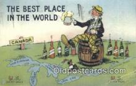 drk001084 - Best Place Canada Postcard Post Cards Old Vintage Antique
