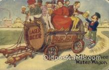 drk001085 - Water Wagon, Lager Beer Milwaukee, Wis, USA Postcard Post Cards Old Vintage Antique