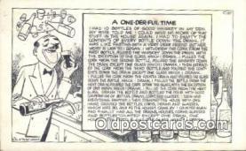 drk001087 - One Der Ful Time  Postcard Post Cards Old Vintage Antique
