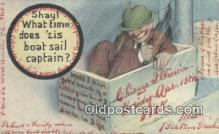 drk001093 - Boat Sail Captain  Postcard Post Cards Old Vintage Antique