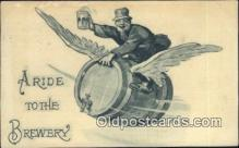 drk001094 - Ride to the Brewery  Postcard Post Cards Old Vintage Antique