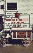 drk001109 - Bucket of Blood Saloon Virginia City, Nevada, USA Postcard Post Cards Old Vintage Antique