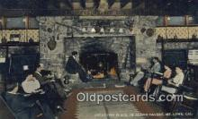 drk001146 - Great Fire Place, Ye Alpine Tavern Mt. Lowe, CA, USA Postcard Post Cards Old Vintage Antique