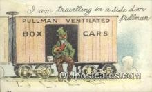 drk001148 - Pullma Ventilated Box Cars  Postcard Post Cards Old Vintage Antique