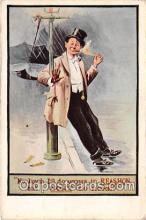 drk001219 - Reashon Smokins Postcards Post Cards Old Vintage Antique