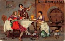 drk001229 - Wine, Woman & Song  Postcards Post Cards Old Vintage Antique