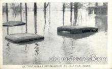 Automobiles Submerged at Orange, Mass, USA