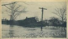 dst001014 - Surgine flood, East Hartford Conn. USADisaster Disasters, Postcard Post Card