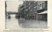 dst001021 - Flood, Liberty Ave., Allegheny County, Penn. Pennsylvania, USADisaster Disasters, Postcard Post Card