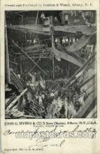 dst001025 - John G. Mayer Co., store disater, Albany, NY, USADisaster Disasters, Postcard Post Card