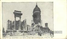 dst001036 - Ruins of San Francisco City Hall after the Earthquake, April 18, 1906 San Francisco, CA, USA Postcard Post Cards Old Vintage Antique