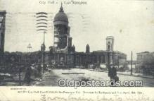dst001039 - City Hall, Earthquake & Fire April 18, 1906 San Francisco, CA, USA Postcard Post Cards Old Vintage Antique