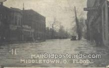 dst001063 - Main St North, Flood Middletown, Ohio, OH Flood USA Postcard Post Cards Old Vintage Antique