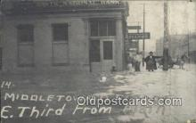 dst001064 - E Third, Main, Flood, National Bank Middletown, Ohio, OH Flood USA Postcard Post Cards Old Vintage Antique