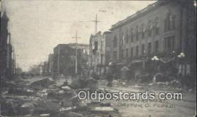 dst001084 - N Jefferson St, Flood Dayton, Ohio, OH, Flood USA Postcard Post Cards Old Vintage Antique