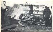 dtr001009 - Wrecked Aeroplane which William R. Badger Died, Aug 15, 1910 Disaster, Wrecks, Postcard Post Card Old Vintage Antique