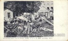 dtr001014 - Big Storm, Aug 6, 1907, Winona, Minn,  Minnesota, USA Disaster, Wrecks, Postcard Post Card Old Vintage Antique
