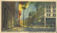 dtr001017 - Earthquake ruins in Mission Street San Francisco Earthquake, CA, USA Disaster, Wrecks, Postcard Post Card Old Vintage Antique
