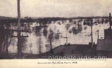 dtr001028 - Chillicothe City Park, Ohio, USA Flood 1898 Disaster, Wrecks, Postcard Post Card Old Vintage Antique