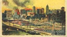 dtr001041 - The Trail of the Earthquake, San Francisco, California, CA, USA Disaster, Wrecks, Postcard Post Card Old Vintage Antique