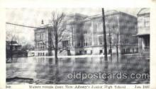 dtr001043 - New Albany, Indiana, IN, USA Flood Junior High School, Jan. 1937 Disaster, Wrecks, Postcard Post Card Old Vintage Antique