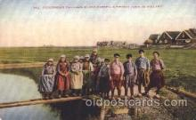 dut001005 - A fishing town in Holland Dutch Children Postcard Post Card
