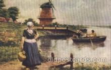 dut001008 - The dutch milkmaid Dutch Children Postcard Post Card